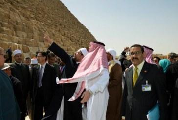 <center>وزير الأوقاف خلال الجولة السياحية <br/>الثانية للوفود المشاركة بالمؤتمر <br/>يؤكد :<center/><br/>القدماء المصريون بنوا حضارة عظيمة <br/> الإرادة القوية في البناء والتعمير<center/>