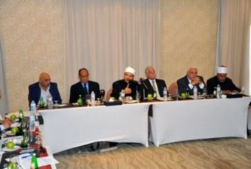 """<center> في اللقاء التحضيري لمؤتمر <br/> """"سيناء عاصمة السياحة الدينية"""" <center/> وزير الأوقاف يؤكد : <center> مصر تمتلك مقومات فريدة <br/> للسياحة الدينية سنعمل على تنميتها <br/> المؤتمر رسالة سلام للعالم <br/> وبرهان على الأمن والأمان في ربوع مصر <center/>"""
