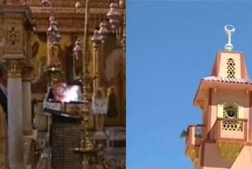 تقرير إخباري يؤكد تعانق  مآذن المساجد والكنائس معاً  بمدينة سانت كاترين