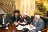 <center> وزير الأوقاف خلال اجتماع لجنة <br/> الشئون الدينية والأوقاف <br/> بمجلس النواب <br/> لمناقشة قضية الإلحاد ومخاطره : <center/>
