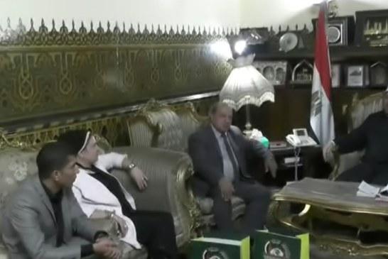 <center> لقاء وزير الأوقاف </br> بلجنة مناقشة رسالة الماجستير </br> &#8220;تجديد الفكر الديني في الإسلام </br> (محمد إقبال أنموذجًا)&#8221; </center>