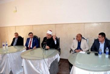 <center> خلال افتتاحه مشروع إسكان الشباب <br/> بمدينة السادات <center/> وزير الأوقاف يؤكد :