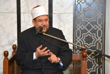 بالفيديو :  كلمة معالي وزير الأوقاف   بمسجد عبد الله مكاوي بالدقي