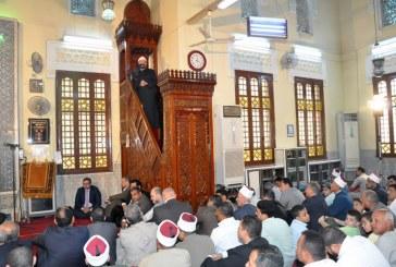 خطبة الجمعة  لمعالي وزير الأوقاف  من مسجد ناصر – بنها  محافظة القليوبية