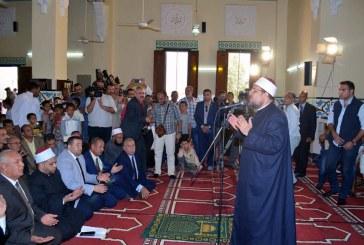 بالفيديو :  كلمة معالي وزير الأوقاف   من مسجد بلاط الكبير  محافظة الوادي الجديد