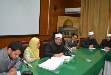 <center>  خلال لقائه بوفد الجامعة <br/>  الإسلامية العالمية بماليزيا <center/>
