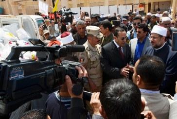 تقرير إخباري    عن صلاة الجمعة لوزير الأوقاف   بمدينة العريش –  شمال سيناء
