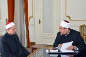 <center> وزير الأوقاف يلتقي إمام مسجد النور بنيوزيلاندا <center/>