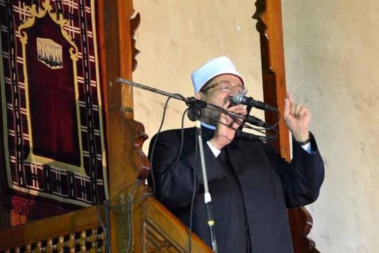 خطبة الجمعة لمعالي وزير الأوقاف   من مسجد الفتح محافظة الشرقية