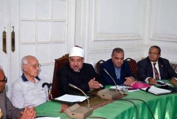 <center> وزير الأوقاف يجتمع بلجنة الترجمة بالمجلس الأعلى للشئون الإسلامية <center/>
